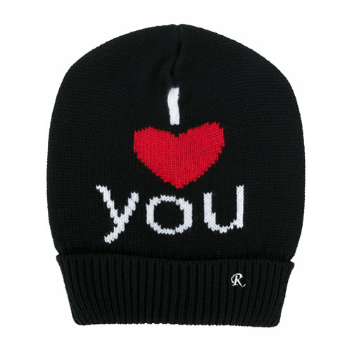 Raf Simons gorra I Heart You - Negro