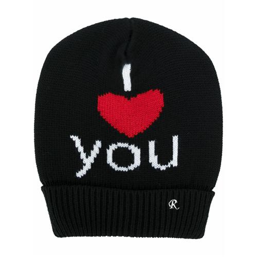 Raf Simons gorra I Heart You - Negro