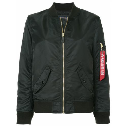 Imagen principal de producto de Alpha Industries chaqueta bomber con cremallera - Negro - Alpha Industries