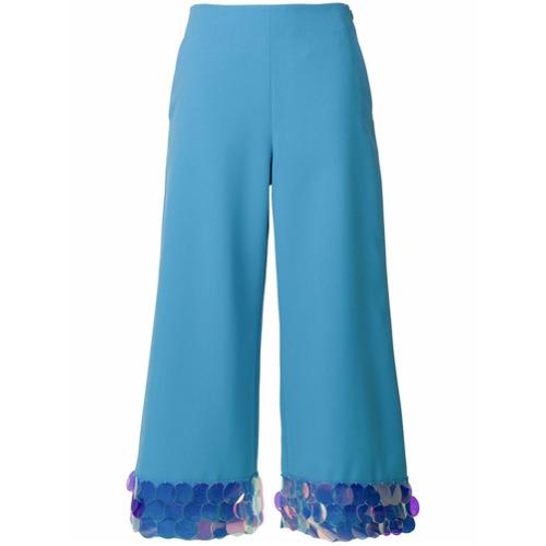 Imagen principal de producto de Sara Battaglia pantalones de estilo capri - Azul - Sara Battaglia