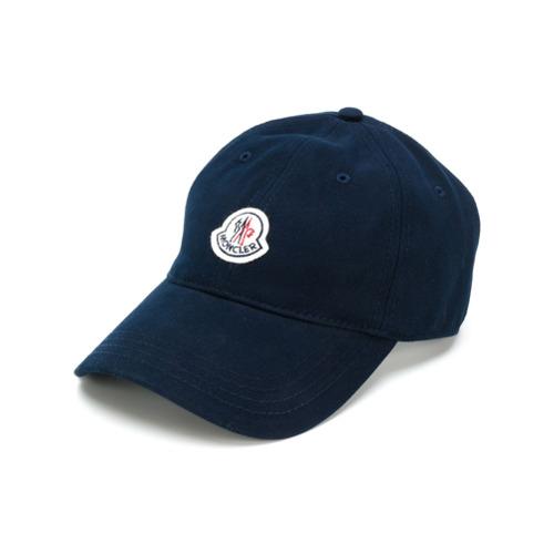 Moncler gorra con parche del logo - Azul