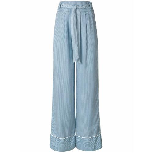 Imagen principal de producto de Patrizia Pepe pantalones acampanados con talle alto - Azul - Patrizia Pepe