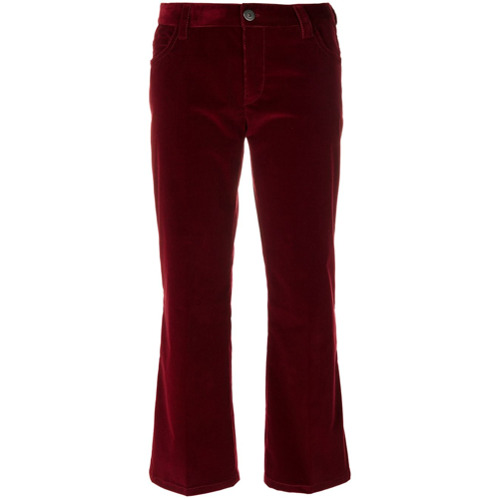 Imagen principal de producto de Prada pantalones de pana capri - Rojo - Prada