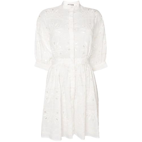 Imagen principal de producto de Paul & Joe vestido camisero bordado - Blanco - Paul & Joe