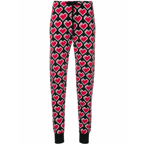 Imagen principal de producto de Love Moschino pantalones con motivo de corazones - Negro - Moschino
