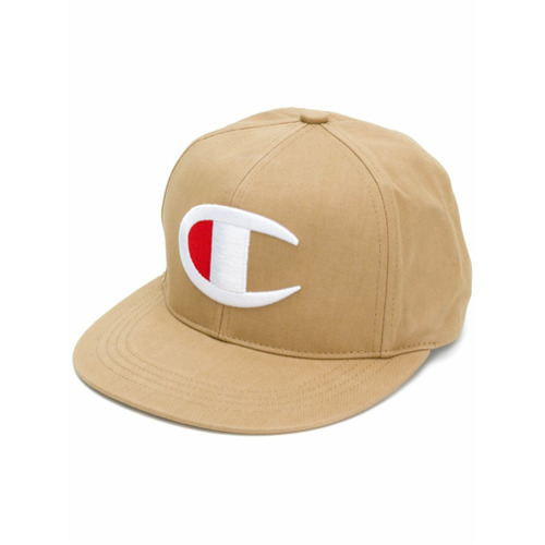 Champion logo embroidered cap - Nude Y Neutro