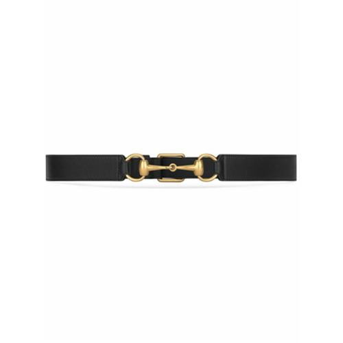 Imagen principal de producto de Gucci cinturón de piel con horsebit - Negro - Gucci