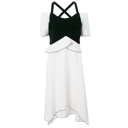 Imagen principal de producto de Proenza Schouler vestido asimétrico con hombros al descubierto - Blanco - Proenza Schouler