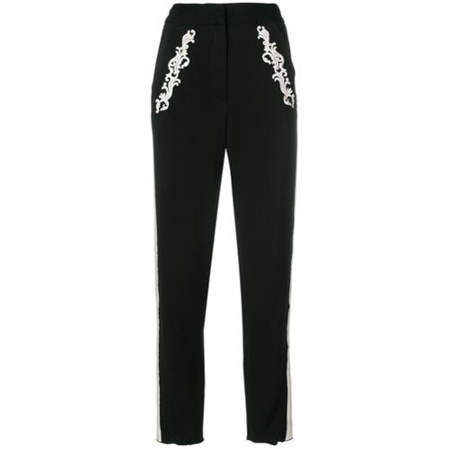 Imagen principal de producto de Just Cavalli pantalones capri de talle alto - Negro - Just Cavalli