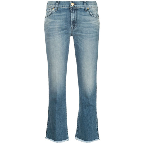 Imagen principal de producto de 7 For All Mankind pantalones capri acampanados - Azul - 7 for all mankind