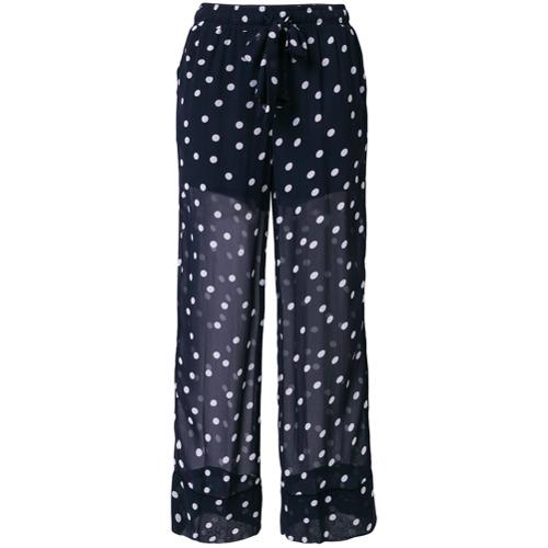 Imagen principal de producto de Ganni pantalones con transparencias y lunares - Azul - Ganni