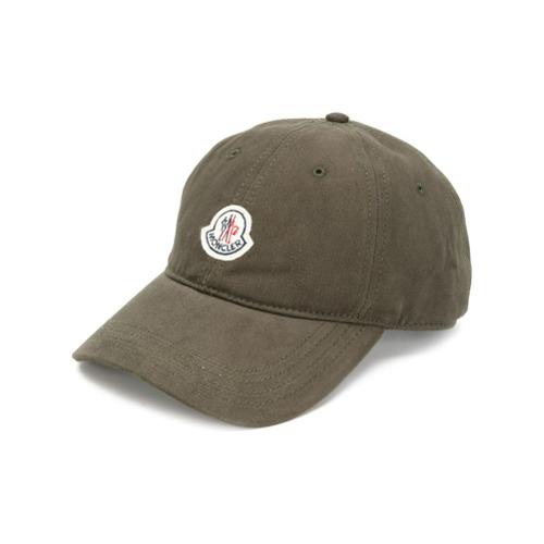 Moncler gorra de béisbol con parche del logo - Verde