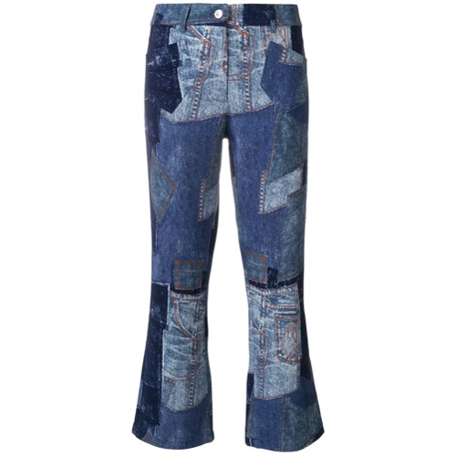 Imagen principal de producto de Moschino pantalones tobilleros en patchwork - Azul - Moschino