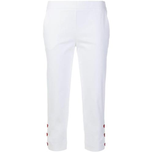 Imagen principal de producto de Love Moschino pantalones capri con detalles de botones - Blanco - Moschino