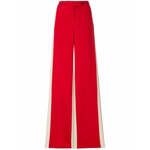 Imagen principal de producto de Valentino pantalones palazzo con raya lateral - Rojo - Valentino