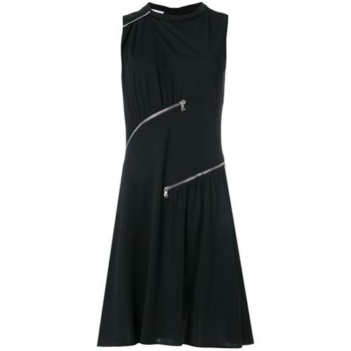 Imagen principal de producto de Moschino vestido estilo camiseta con detalle de cremallera - Negro - Moschino