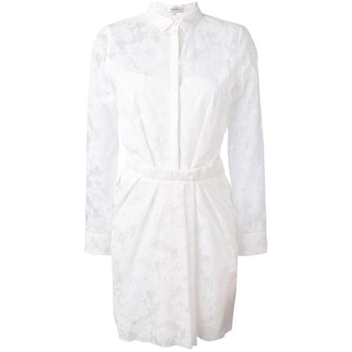 Imagen principal de producto de Carven vestido camisero con ribete de encaje - Blanco - Carven