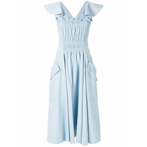Imagen principal de producto de Carven vestido midi con detalle de volantes - Azul - Carven