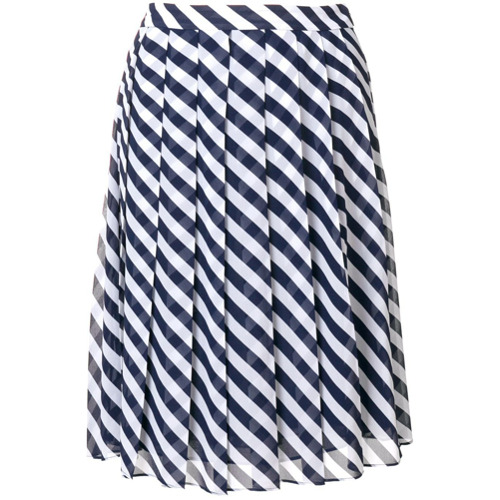 Imagen principal de producto de Michael Michael Kors falda a rayas con pliegues - Blanco - MICHAEL Michael Kors