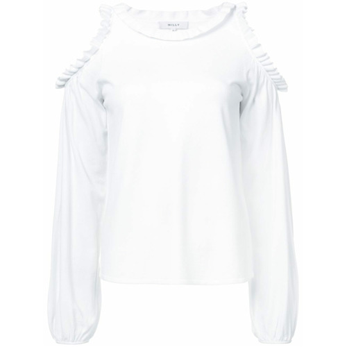 Imagen principal de producto de Milly cut-out shoulder blouse - Blanco - Milly