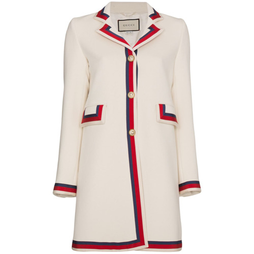 Imagen principal de producto de Gucci abrigo de manga larga - Blanco - Gucci