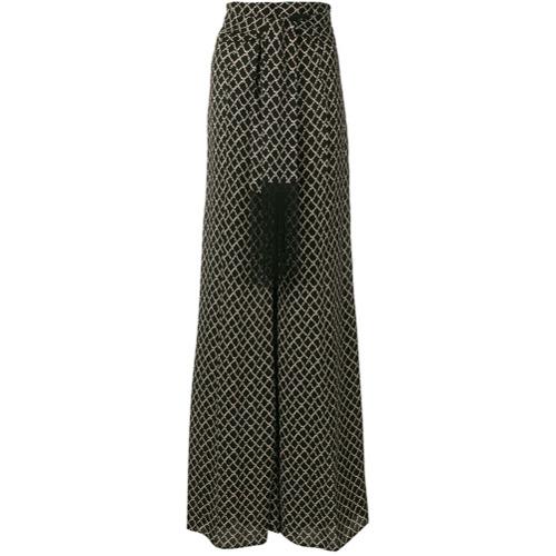 Imagen principal de producto de Elisabetta Franchi printed palazzo trousers - Negro - Elisabetta Franchi