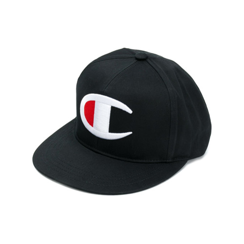 Champion logo embroidered cap - Negro