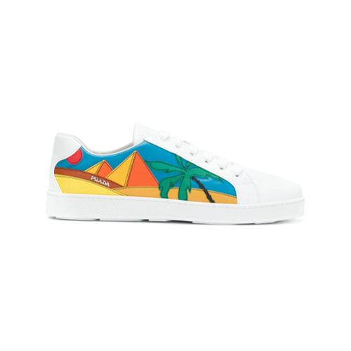 Imagen principal de producto de Prada zapatillas con apliques de pirámides - Blanco - Prada