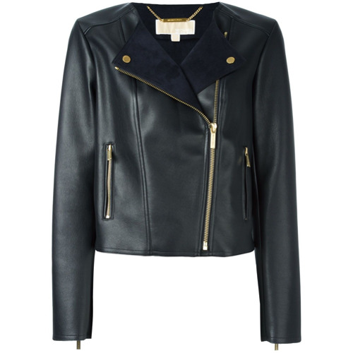 Imagen principal de producto de Michael Michael Kors chaqueta biker clásica - Negro - MICHAEL Michael Kors
