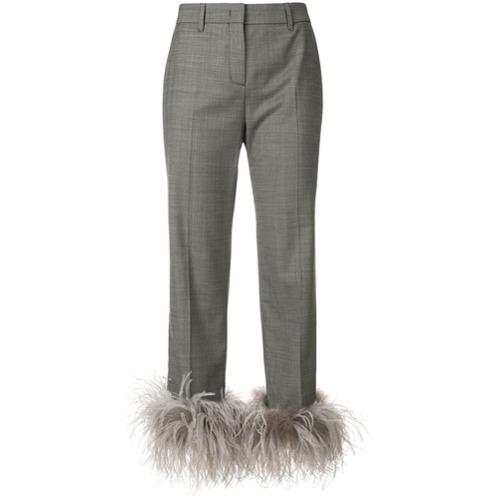 Imagen principal de producto de Prada pantalones capri con detalles - Gris - Prada