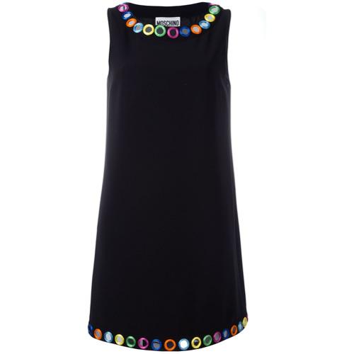 Imagen principal de producto de Moschino vestido con detalles bordados de espejo - Negro - Moschino