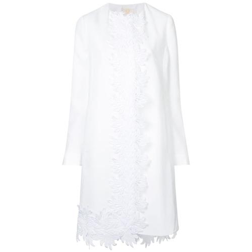 Imagen principal de producto de Sara Battaglia abrigo con detalle bordado - Blanco - Sara Battaglia