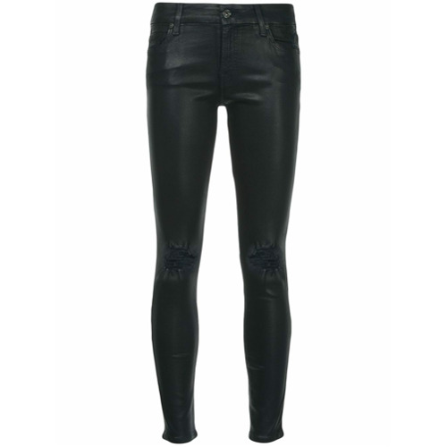 Imagen principal de producto de 7 For All Mankind pantalones slim con efecto envejecido - Azul - 7 for all mankind