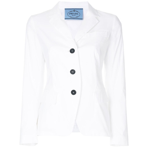 Imagen principal de producto de Prada blazer de botonadura simple - Blanco - Prada