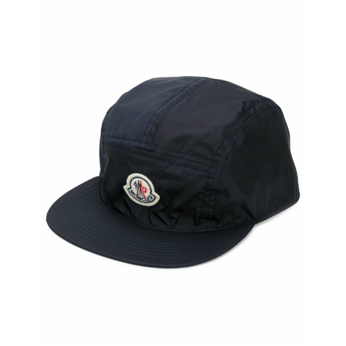 Moncler gorra con logo - Azul