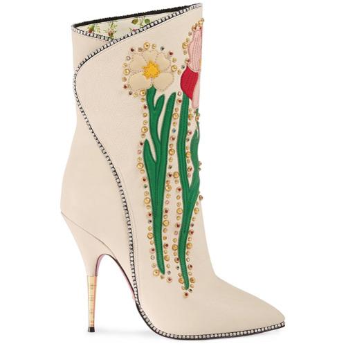 Imagen principal de producto de Gucci botas 110 con motivo floral - Blanco - Gucci