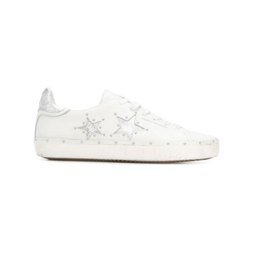 Imagen principal de producto de Rebecca Minkoff studded star patch low top sneakers - Blanco - Rebecca Minkoff