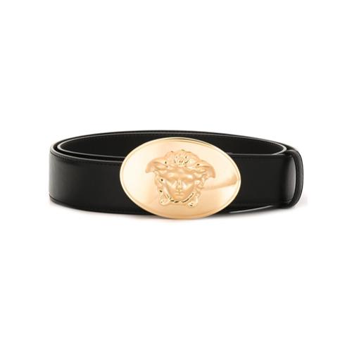 """Imagen principal de producto de Versace cinturón con placa """"Medusa"""" - Negro - Versace"""
