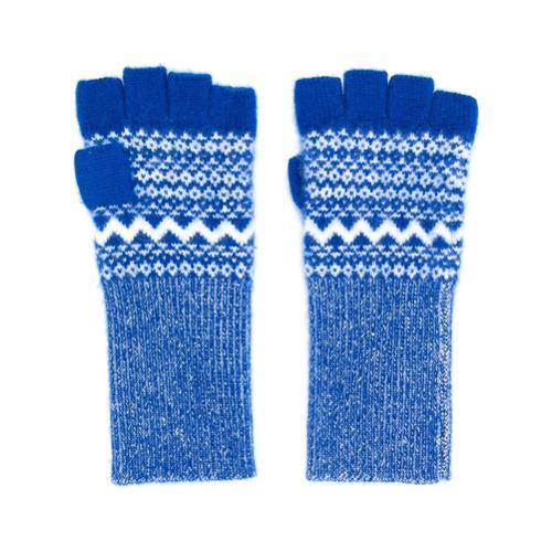 Imagen principal de producto de Burberry guantes Fair Isle sin dedos - Azul - Burberry