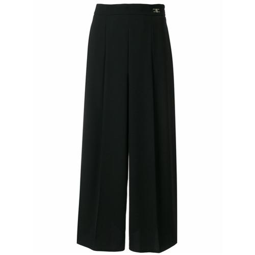 Imagen principal de producto de Elisabetta Franchi pantalones acampanados con talle alto - Negro - Elisabetta Franchi
