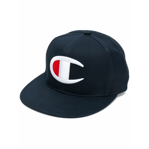 Champion logo embroidered cap - Azul
