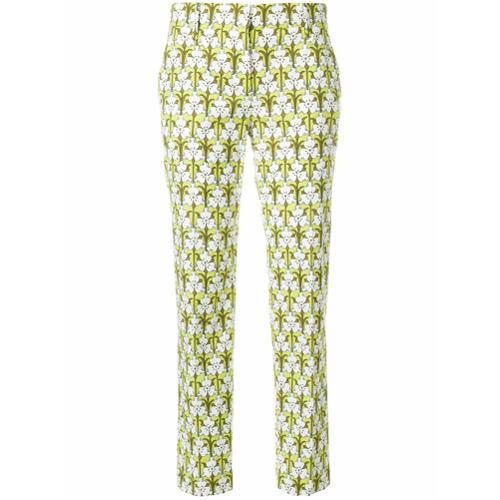 Imagen principal de producto de Prada pantalones con motivo floral - Verde - Prada