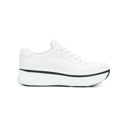 Imagen principal de producto de Prada zapatillas con plataforma Muve - Blanco - Prada