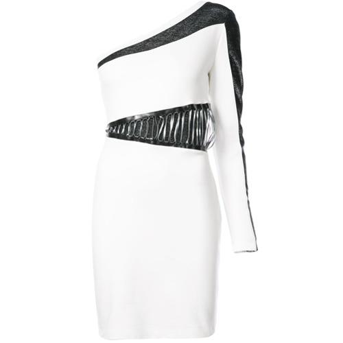 Imagen principal de producto de Just Cavalli vestido asimétrico con colour block - Blanco - Just Cavalli