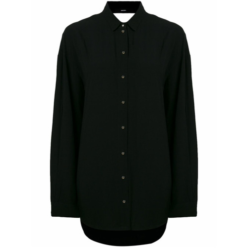 Imagen principal de producto de Diesel camisa oversize con espalda descibierta - Negro - Diesel