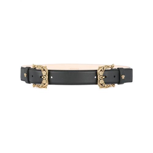 Imagen principal de producto de Versace cinturón con dos hebillas - Negro - Versace