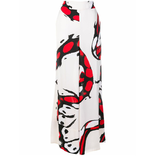Imagen principal de producto de By Malene Birger pantalones anchos estampados - Blanco - By Malene Birger