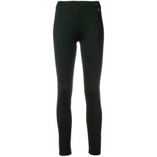 Imagen principal de producto de Versace Jeans leggins con placa del logo - Negro - Versace