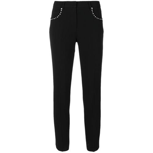Imagen principal de producto de Miu Miu pantalones capri con ribete de cristales - Negro - Miu Miu