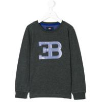 Bugatti Kids Moletom Com Logo - Grey